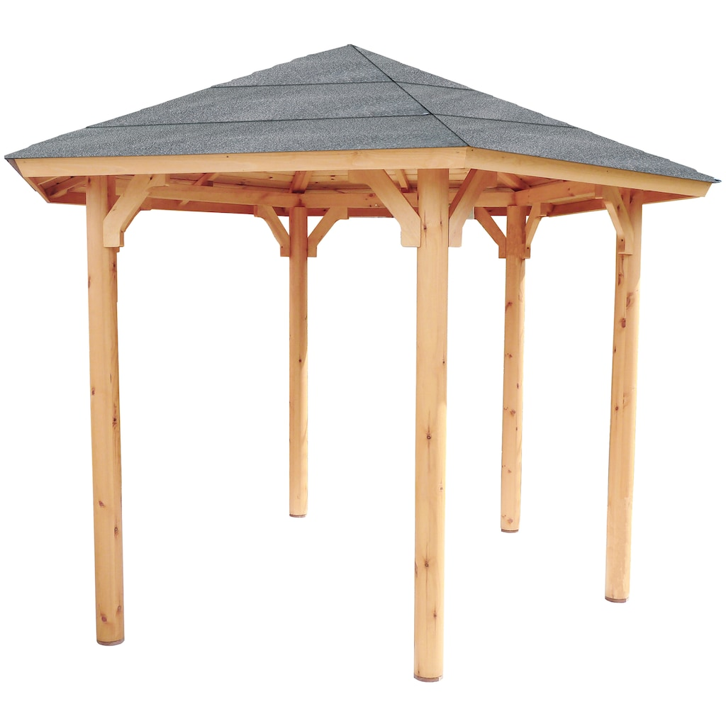 Wolff Holzpavillon »Kreta 6«, BxT: 366x327 cm