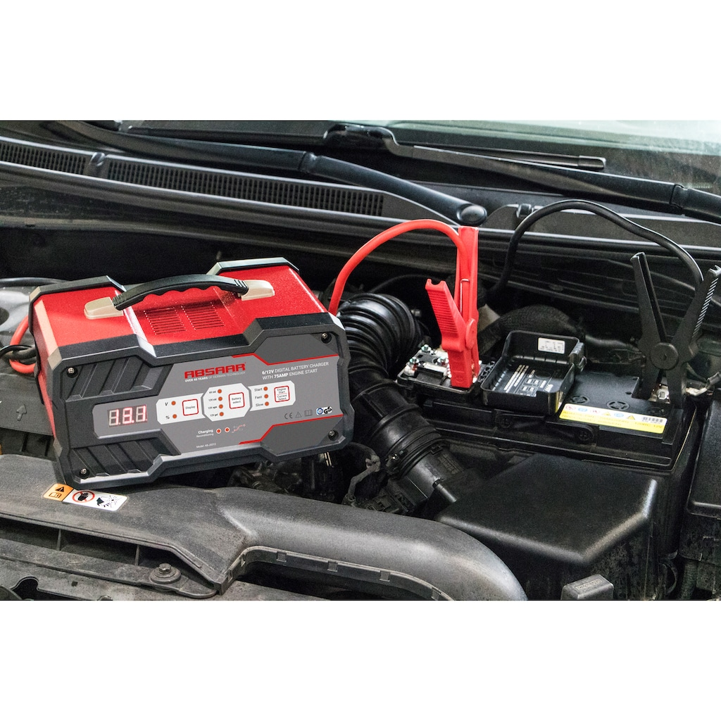 Absaar Batterie-Ladegerät, 12000 mA, mit Starthilfe