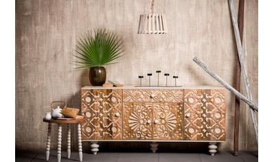 Home affaire Sideboard »Spring«, aus massivem Mangoholz mit dekorativen Schnitzereien,... kaufen
