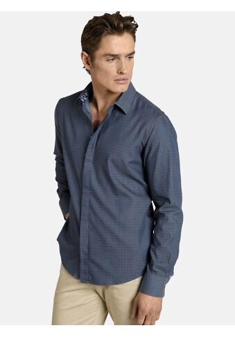 SHIRTMASTER Langarmhemd »hiddendots«, Baumwollhemd in Jacquard-Design kaufen