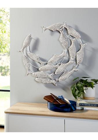 Home affaire Wanddekoobjekt »Fische«, Wanddeko, aus Metall, maritim kaufen