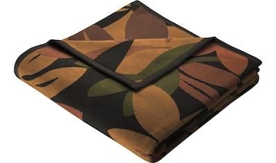 BIEDERLACK Wohndecke »Southland«, mit herbstlichem Blätter-Design kaufen