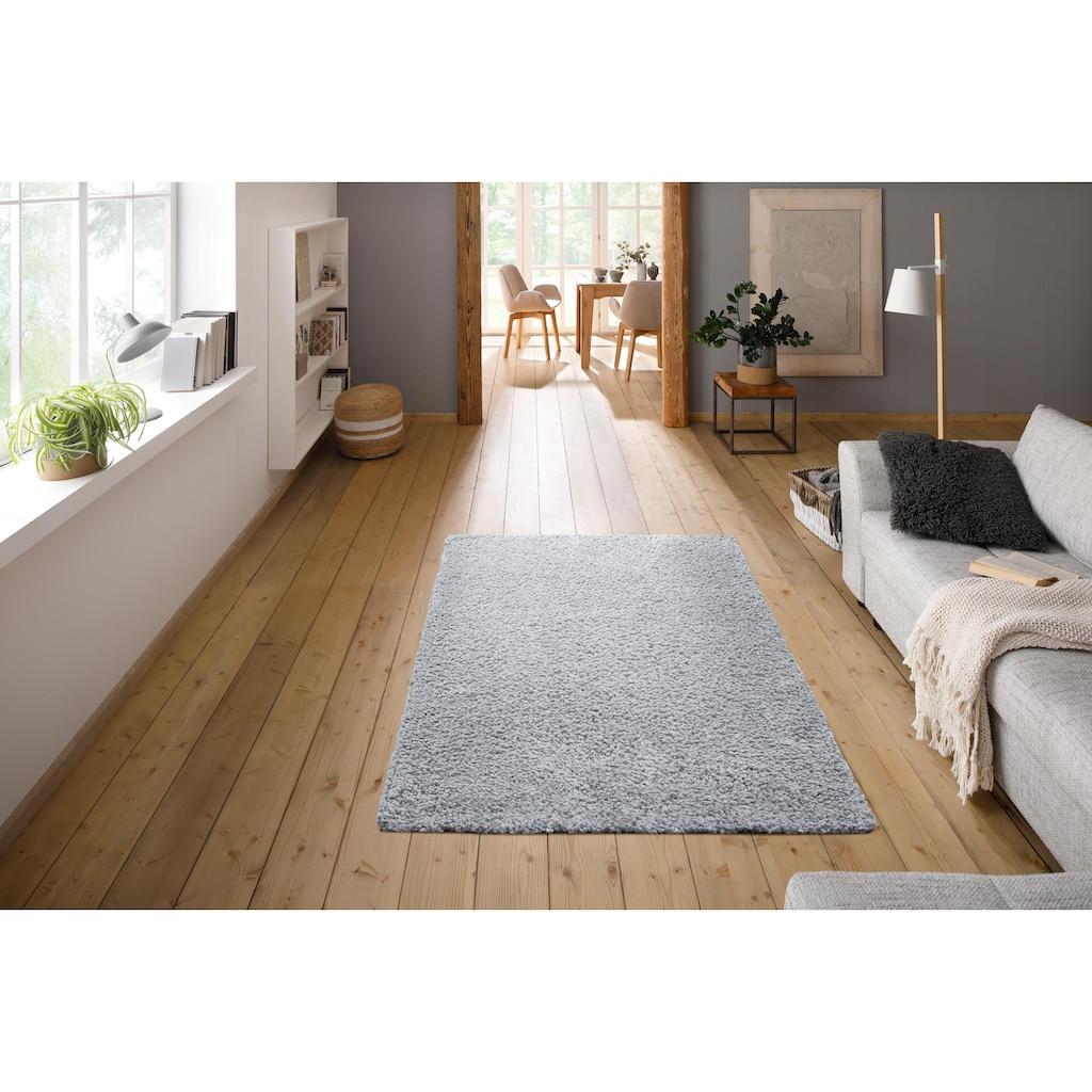 Home affaire Hochflor-Teppich »Florenz«, rechteckig, 45 mm Höhe, Besonders weich durch Microfaser, Wohnzimmer