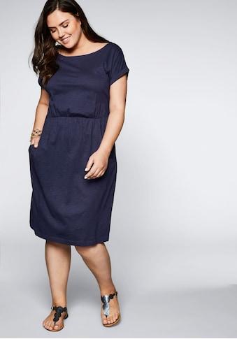 Sheego Jerseykleid, mit Taschen und Gummizug kaufen
