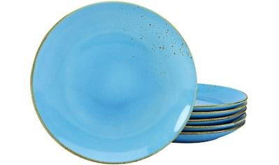 CreaTable Speiseteller »NATURE COLLECTION«, (Set, 6 St.), Ø 27 cm, Steinzeug kaufen