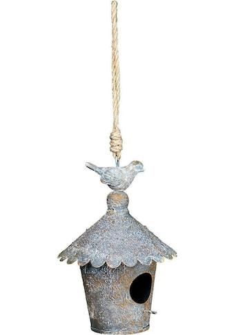 Ambiente Haus Vogelhaus, zum hängen aus Metall - rund Outdoor geeignet kaufen