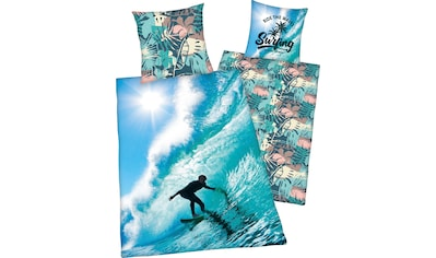 Herding Young Collection Wendebettwäsche »Surfer«, mit tollem Surfer-Motiv kaufen