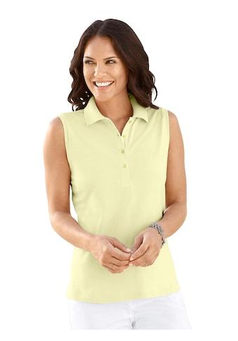 Casual Looks Shirttop mit geripptem Polokragen kaufen