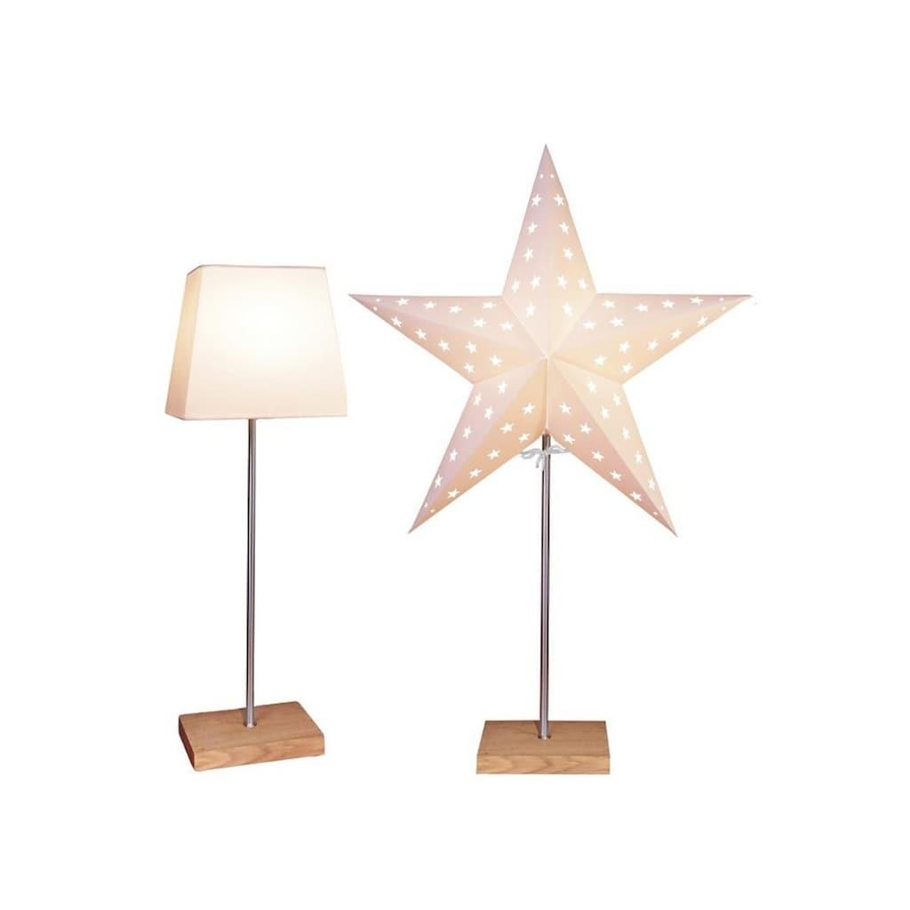 STAR TRADING Tischleuchte, E14, Mit Kunststoffschirm und Papierstern