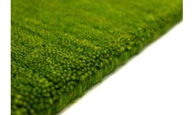 morgenland Wollteppich »Gabbeh Teppich handgewebt grün«, rund, 8 mm Höhe, Kurzflor kaufen