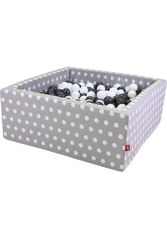 Knorrtoys® Bällebad »Soft, Grey white dots«, mit 100 Bällen grey/creme; Made in Europe kaufen