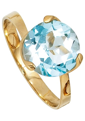 JOBO Goldring, 585 Gold mit Blautopas kaufen