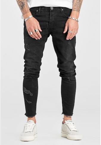 2Y Premium Slim-fit-Jeans »JEAN«, mit trendigen Destroyed-Elementen kaufen