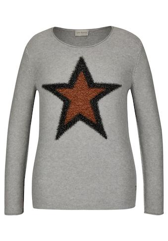 VIA APPIA Kuscheliger Pullover mit Sternen - Motiv Plus Size kaufen