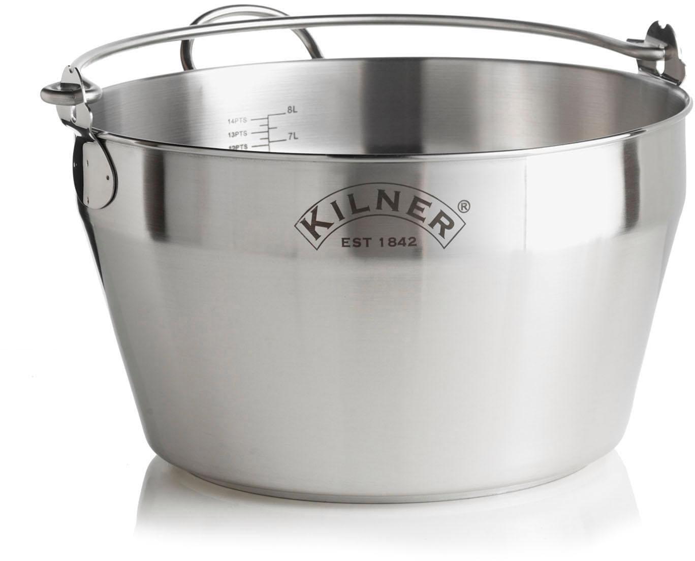 KILNER Einkochtopf, Edelstahl, (1 tlg.), 8 Liter, Induktion silberfarben Weitere Töpfe Haushaltswaren Einkochtopf