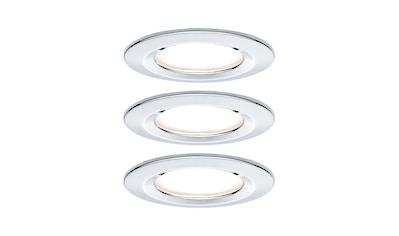 Paulmann LED Einbaustrahler »starr Nova rund 3x6,5W Chrom«, 3 St., Warmweiß kaufen