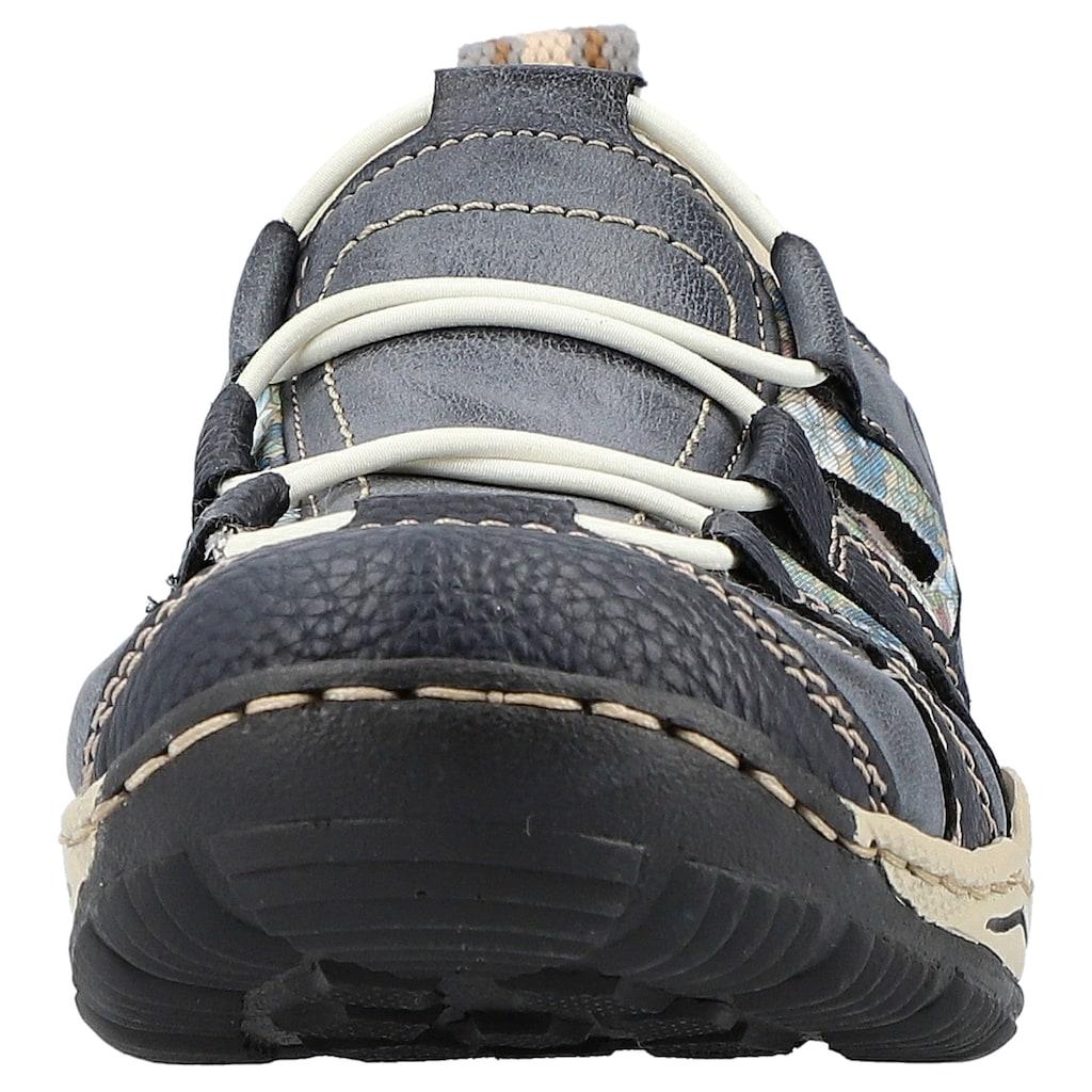 Rieker Slip-On Sneaker, mit Kontrastdetails
