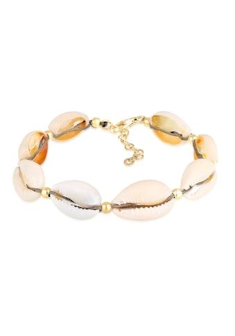 Elli Armband »Echte Kauri Muscheln Beach 925 Silber vergoldet« kaufen