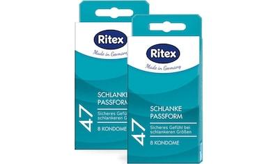 Ritex Kondome »47 - Schlanke Passform«, (Packung, 16 St.), 2x8er Packung kaufen