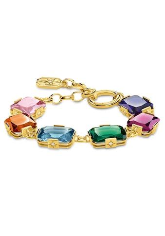 THOMAS SABO Armband »Große farbige Steine gold, A1911 - 996 - 7 - L19v« kaufen
