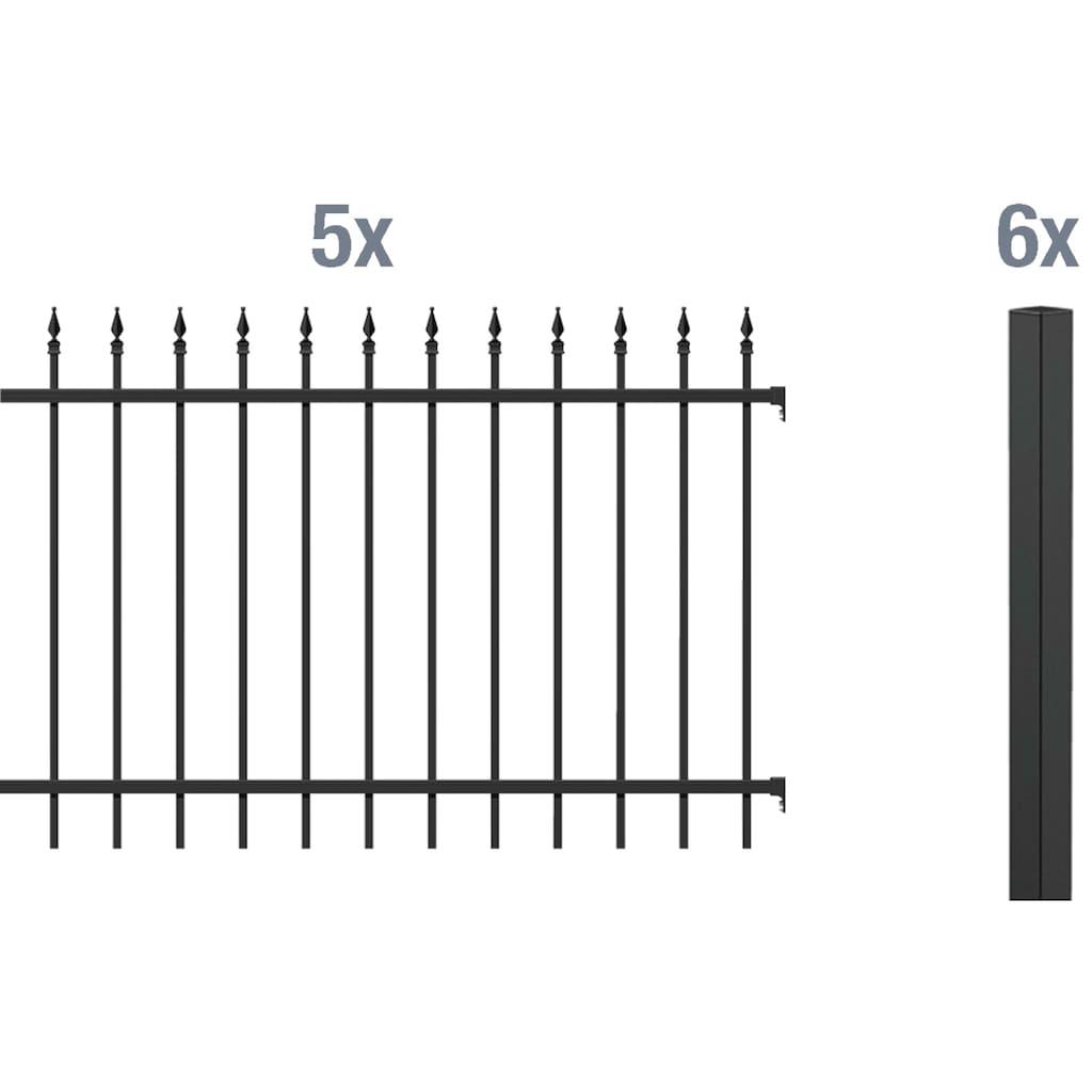 GAH Alberts Metallzaun »Chaussee«, 100 cm hoch, 5 Matten für 10 m, 6 Pfosten zum Einbetonieren