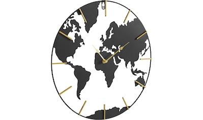 Home affaire Wanduhr »Weltkarte«, rund, Ø 40 cm, aus Metall kaufen