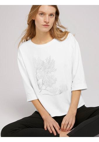 TOM TAILOR T-Shirt »3/4 Arm Shirt mit Print« kaufen