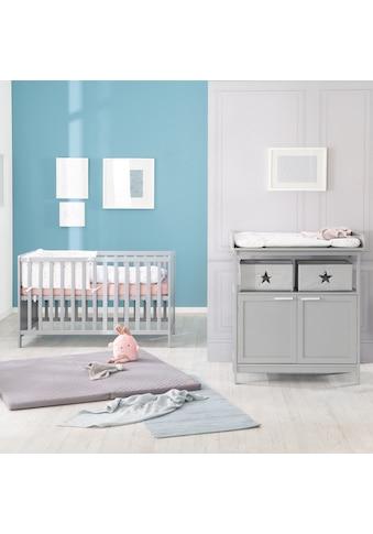 roba® Babymöbel-Set »Hamburg«, (Spar-Set, 2 tlg.), Bett & Wickelkommode mit 2 Türen kaufen