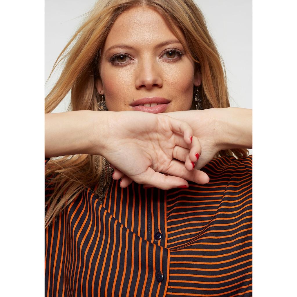 Aniston CASUAL Longbluse, im Streifen und Ringel Dessin