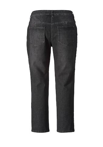 Janet und Joyce by Happy Size Slim Fit Jeans mit Stickerei knöchellang kaufen