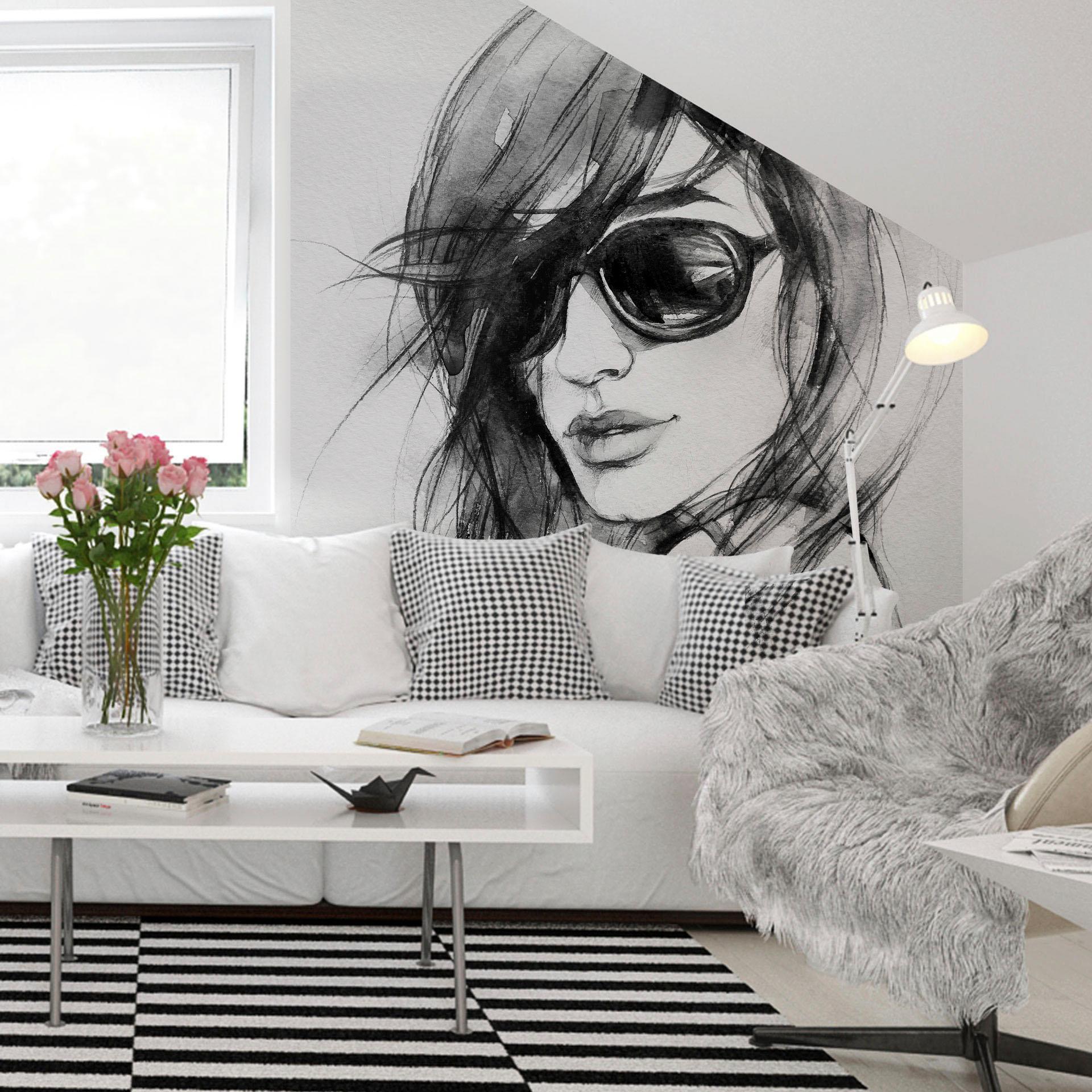 Fototapete I wear my sunglasses 288/260 cm Wohnen/Wohntextilien/Tapeten/Fototapeten/Fototapeten Natur