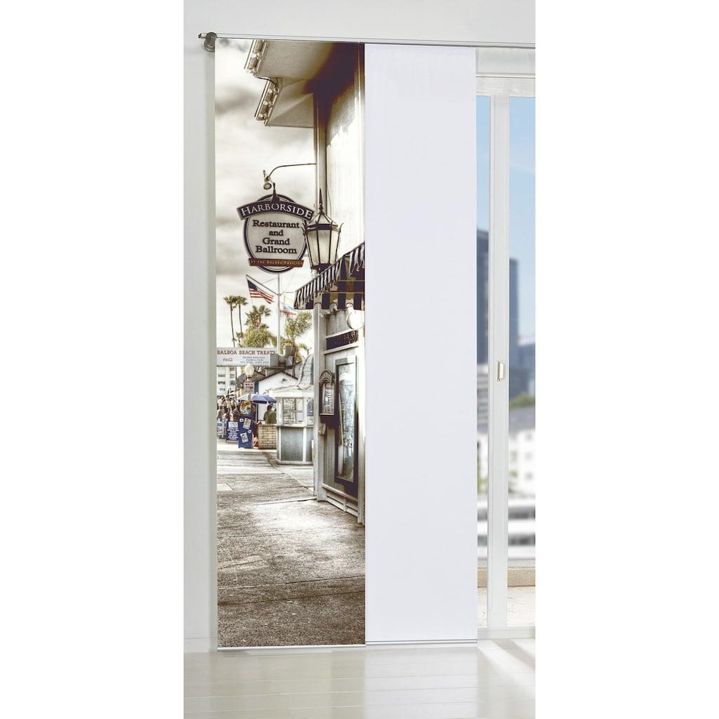 HOME WOHNIDEEN Schiebegardine »ROTTERDAM«, HxB: 245x60, inkl. Befestigungszubehör