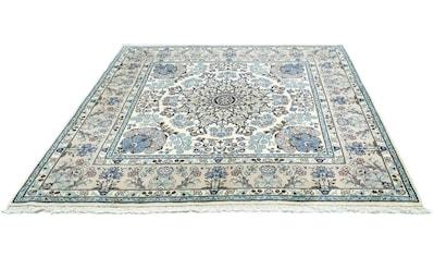 morgenland Wollteppich »Yazd Teppich handgeknüpft beige«, quadratisch, 12 mm Höhe kaufen