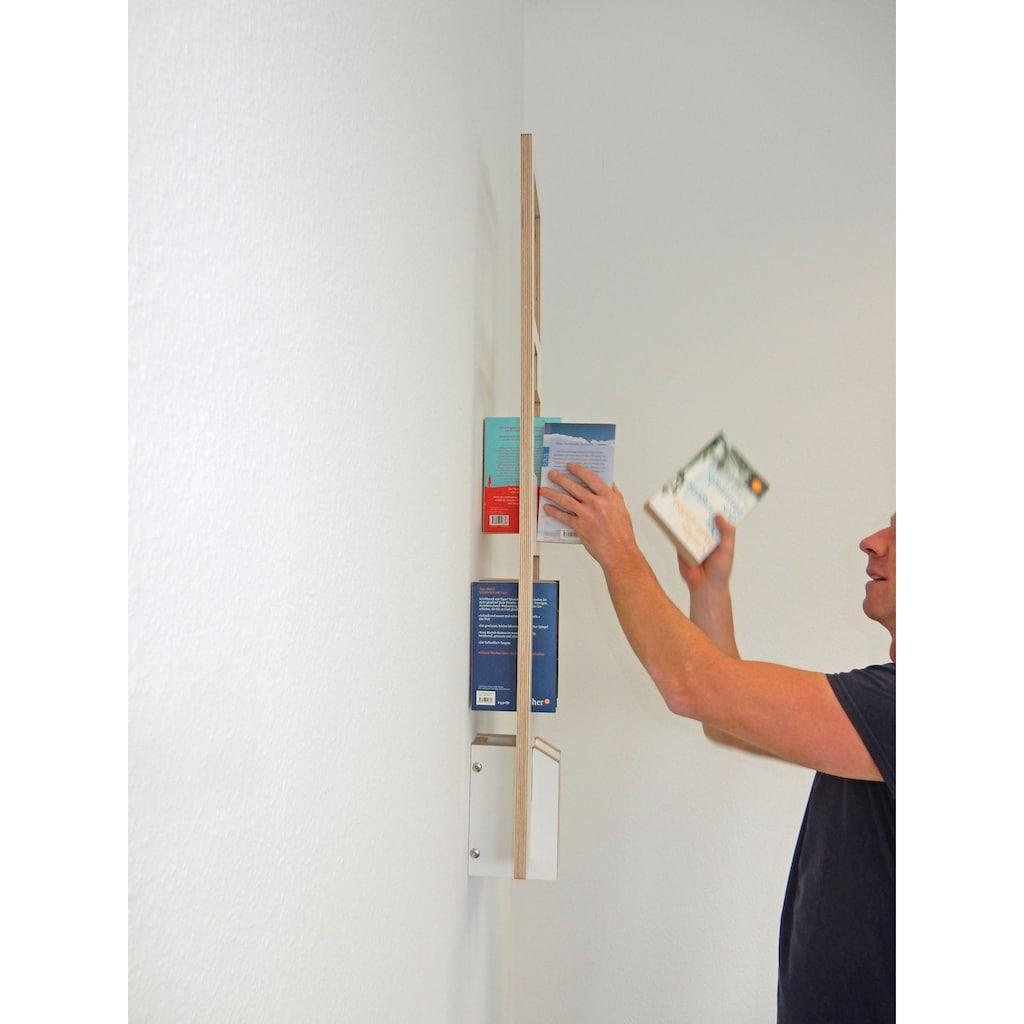 Tojo Bücherregal »Tojo-lesestoff«, modernes Wandregal in nur 25 cm Breite