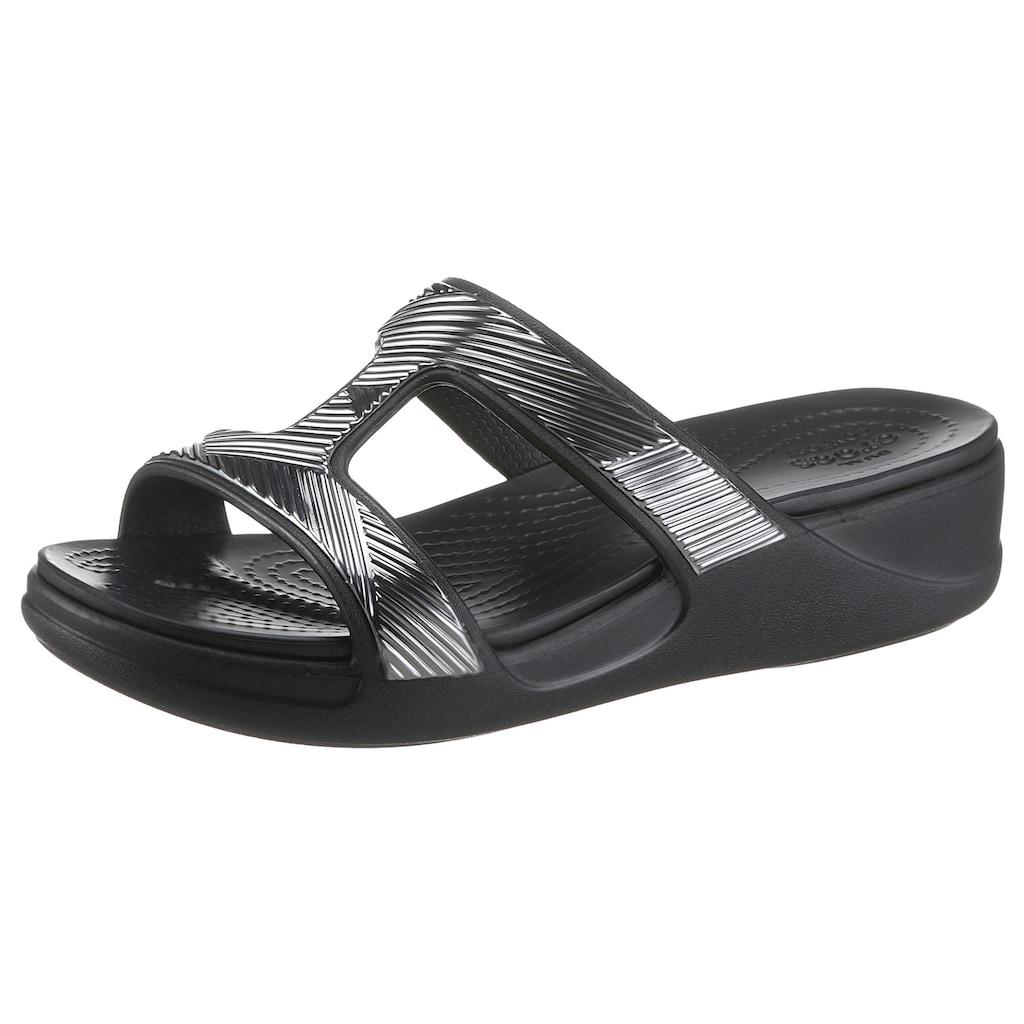 Crocs Badepantolette »Monterey Shimmer SO«, im Metallic Look