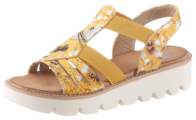 rieker -  Sandalette, mit sommerlichem Blütenmotiv