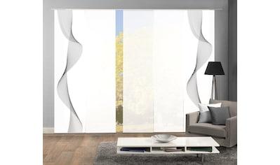 HOME WOHNIDEEN Schiebegardine »COLIBA 5er SET«, Dekostoff-Seidenoptik, Digital bedruckt kaufen