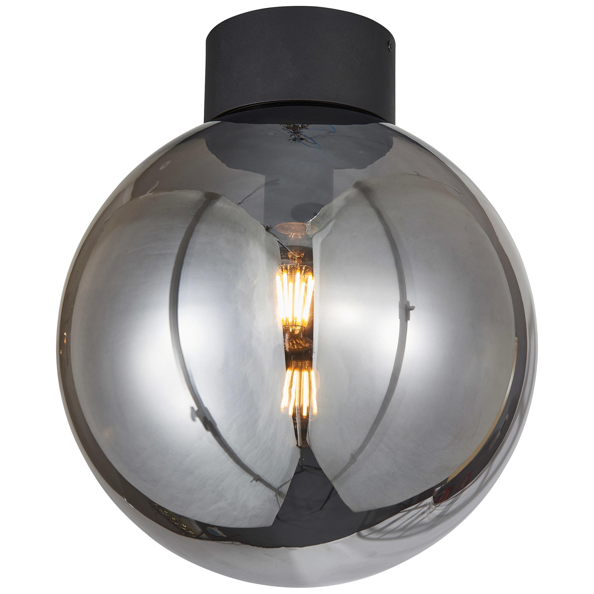 Brilliant Leuchten Astro Deckenleuchte 30cm schwarz/rauchglas