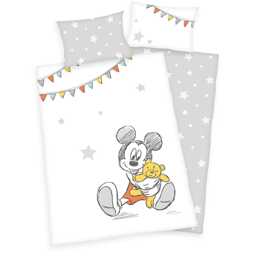 Walt Disney Babybettwäsche »Disney´s Mickey Mouse«, mit Mickey und Sternen
