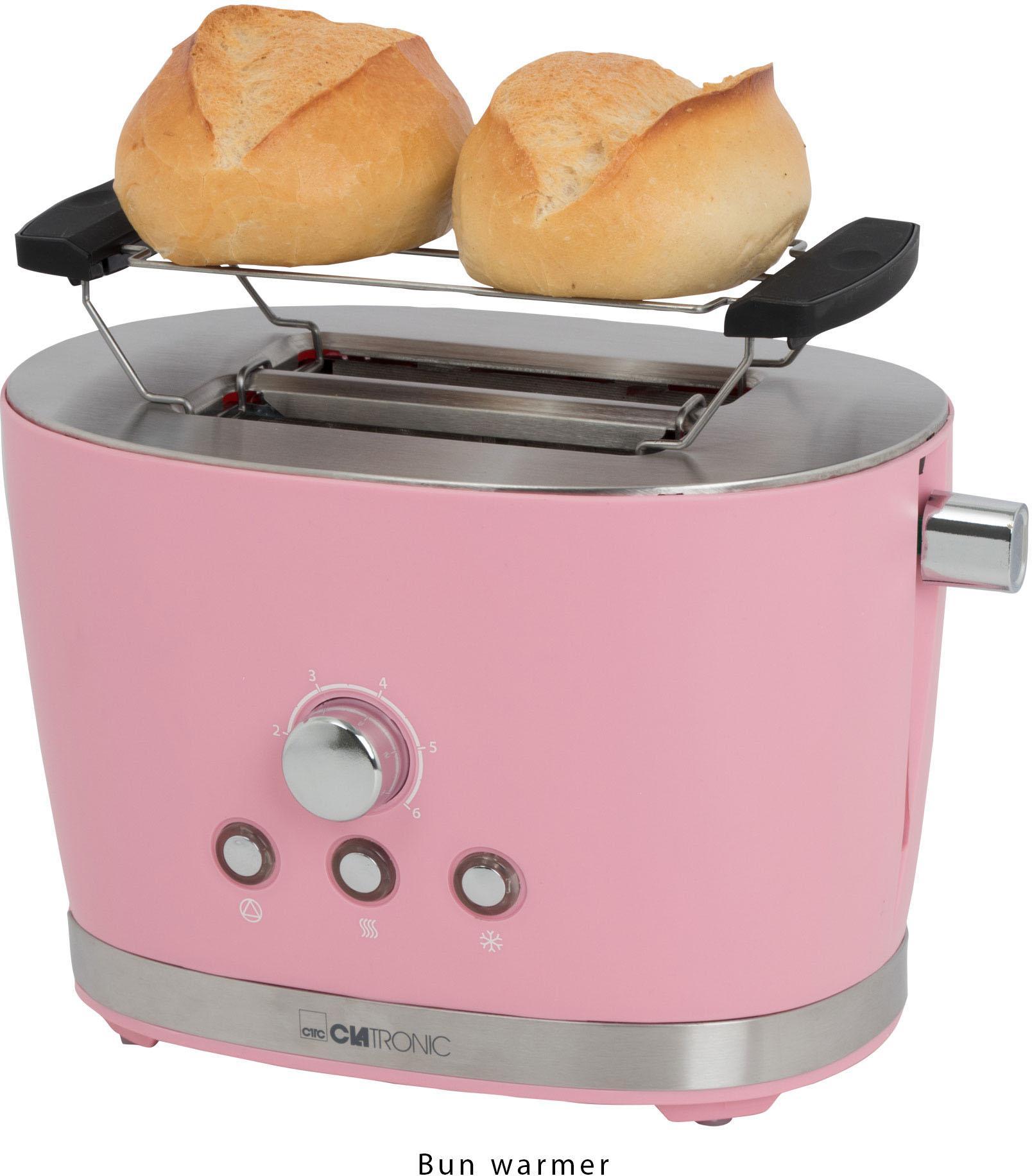 CLATRONIC Toaster Clatronic TA 3690 pink für 2 Scheiben 850 Watt | Küche und Esszimmer > Küchengeräte > Toaster | Rosa | Clatronic