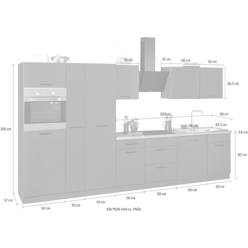 wiho Küchen Küchenzeile »Esbo«, mit E-Geräten, Breite 360 cm
