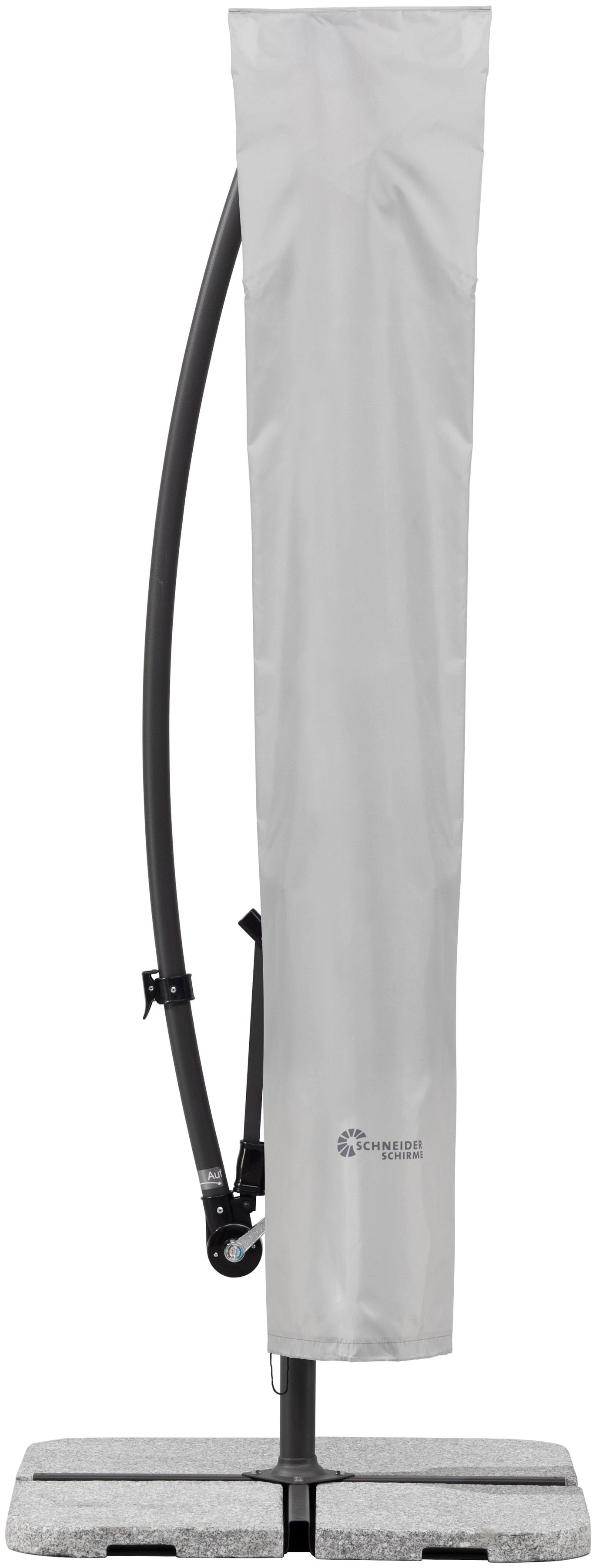 Schneider Schirme Schutzplane 813-00, für Ampelschirme bis Ø 300 cm grau Sonnenschirme -segel Gartenmöbel Gartendeko