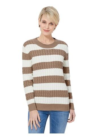 Casual Looks Pullover im klassischen Zopfmuster kaufen