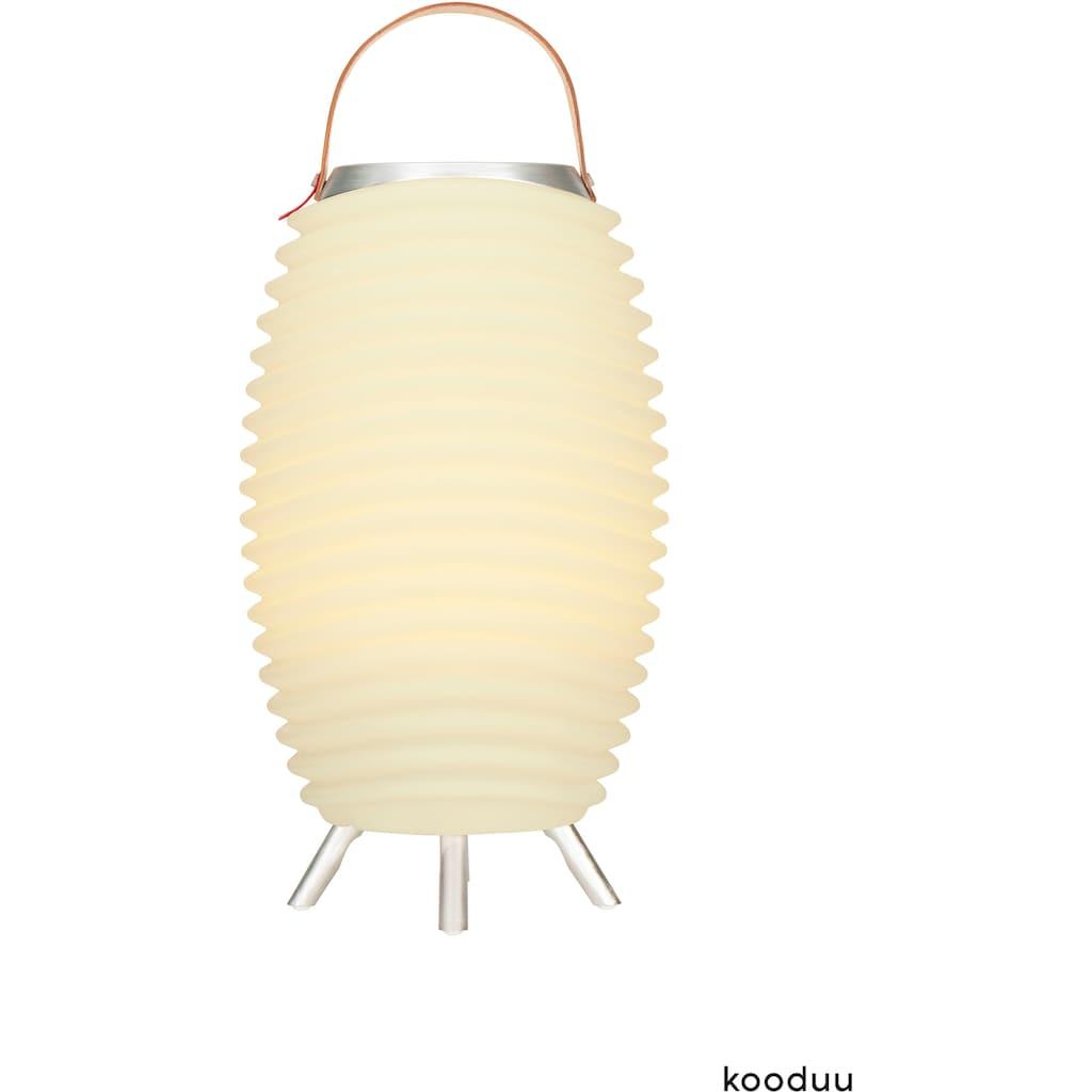 kooduu LED Stehlampe »Synergy S«, 1 St., Warmweiß, 3-in 1 LED Designer-Lampe, Bluetooth Lautsprecher, Weinkühler/Vase mit Akku