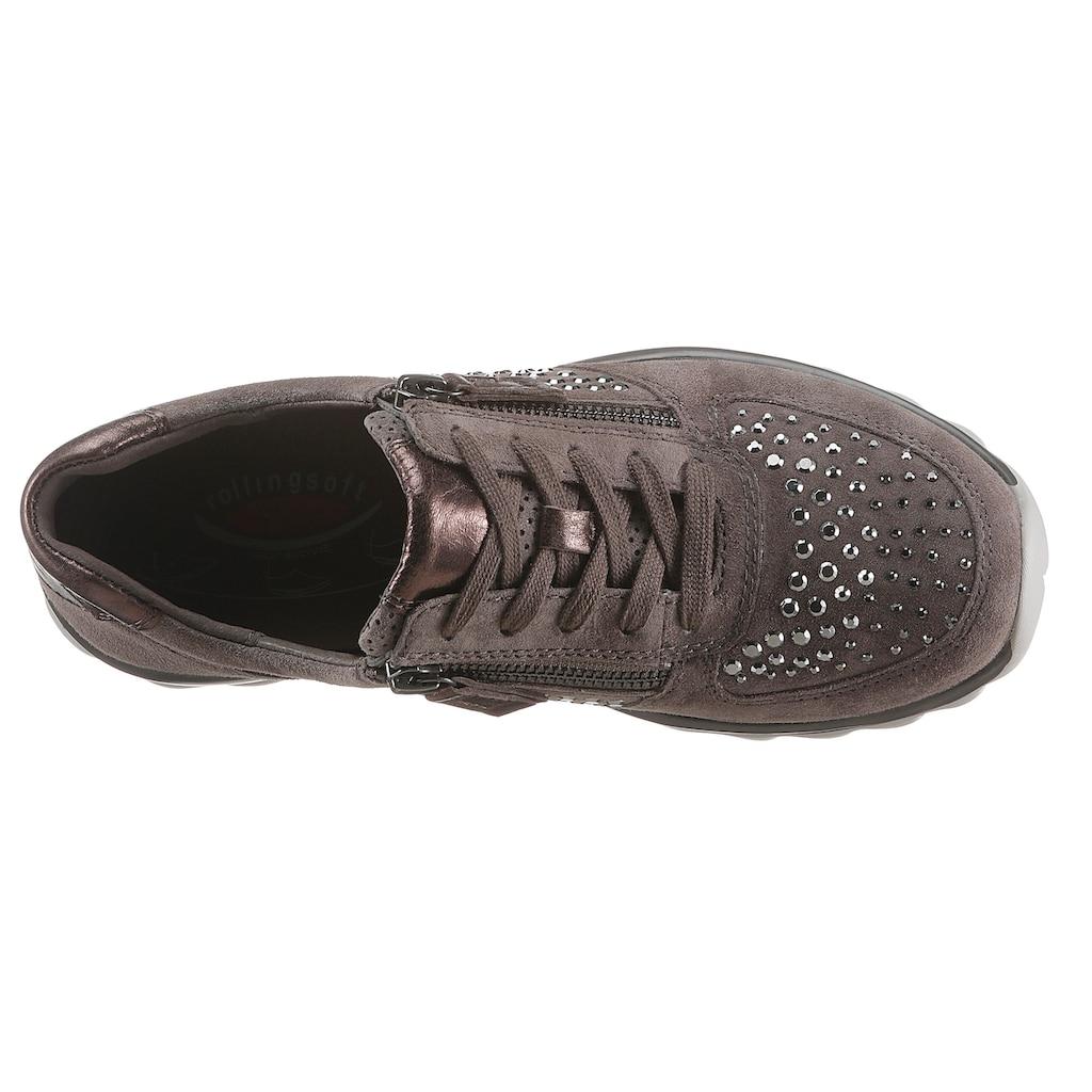Gabor Rollingsoft Keilsneaker, mit glänzenden Schmucksteinen