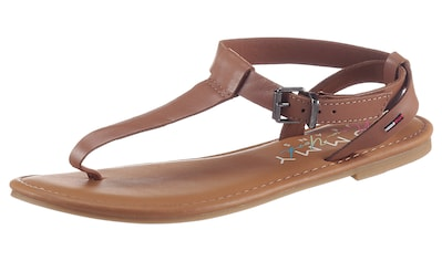 Tommy Jeans Riemchensandale »ESSENTIAL TOE POST FLAT SANDAL«, mit Zehensteg kaufen