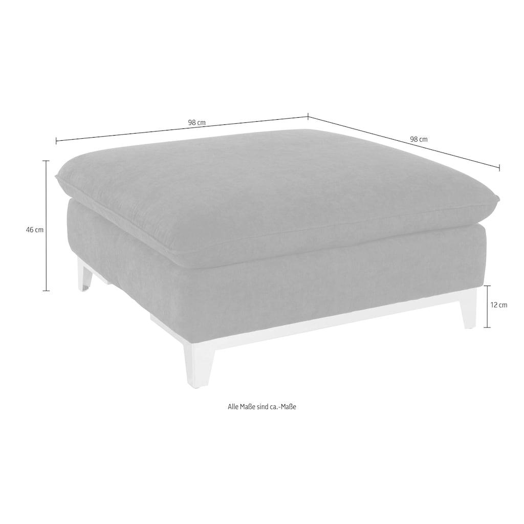 COTTA Polstergarnitur, (Set), Set: bestehend aus 2-Sitzer und Hocker, Sofa inklusive Kopfteilverstellung