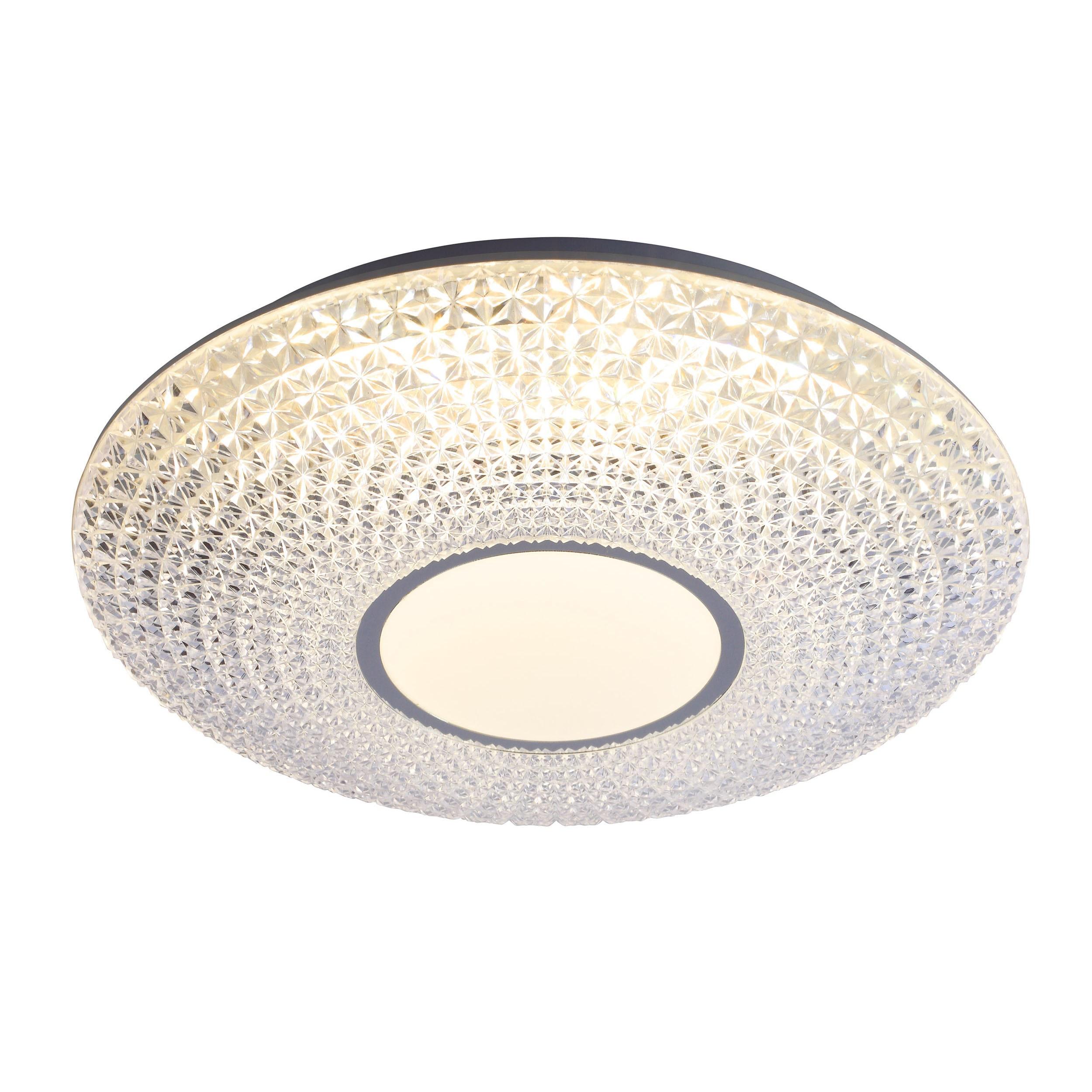 Brilliant Leuchten Nunya LED Deckenleuchte 42cm weiß/chrom