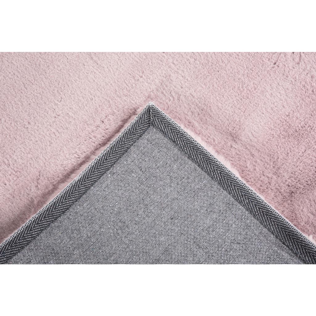 Andiamo Fellteppich »Novara«, rechteckig, 35 mm Höhe, Kunstfell, Kaninchenfell-Haptik, ein echter Kuschelteppich, Wohnzimmer
