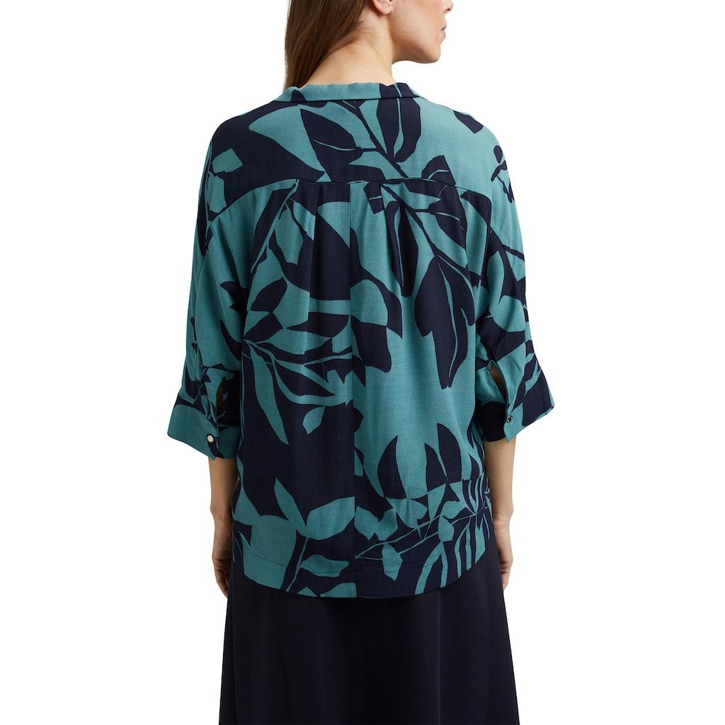 Esprit Collection Druckbluse, im Oversized Kimono-Look mit tollem Botanik-Alloverprint